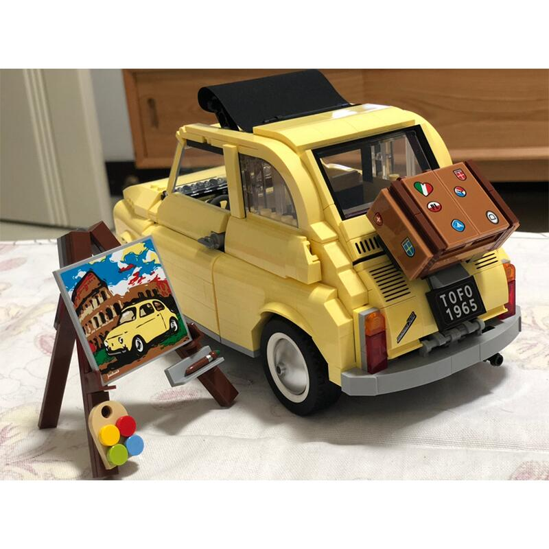 New 960pcs 10271 FIATed 500 City Car Creator Series Building Blocks Lepining Model Children Kids Christmas Gift Toys