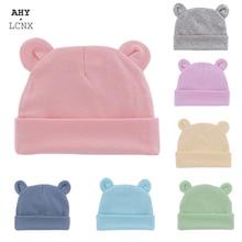 Photography Props Bonnet-Hats Beanies Newborn-Baby Infant Wholesale Boys Cotton Ears