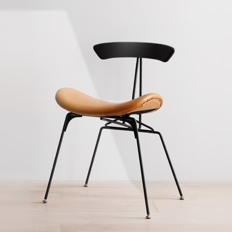 Nordic Industrial Style Retro Iron Dining Chair Ant Chair Designer Chair Solid Wood Back Leisure Chair