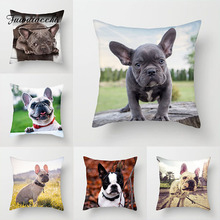 Fuwatacchi чехол для подушки с милой собакой, чехол для подушки с изображением собаки, фото, чехол для дивана, домашнего стула, французского бульдога, декоративная наволочка 45*45 см