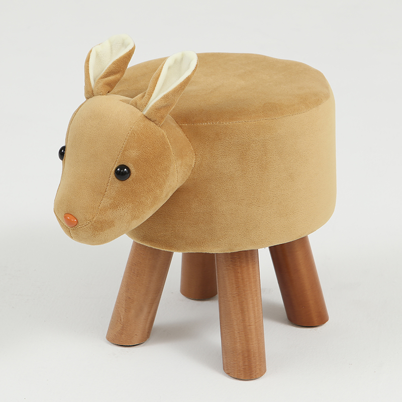 Children's Stool Solid Wood Home Animal Chair Adult Fashion Stool Living Room Sofa Bench Change Shoes Bench Bench
