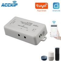 2CH Wifi 스마트 무선 스위치 10A 2000W 2 Gang 2 채널 지원 Tuya app는 Alexa Google 홈으로 작동합니다.