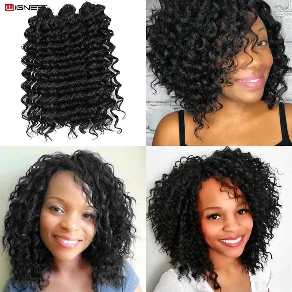 "Wignee 12"" 3 Pcs/Lot Freetress Crochet Twist Braids Women Hair Extensions High Temperature Heat Resistant Synthetic Hair Pieces"