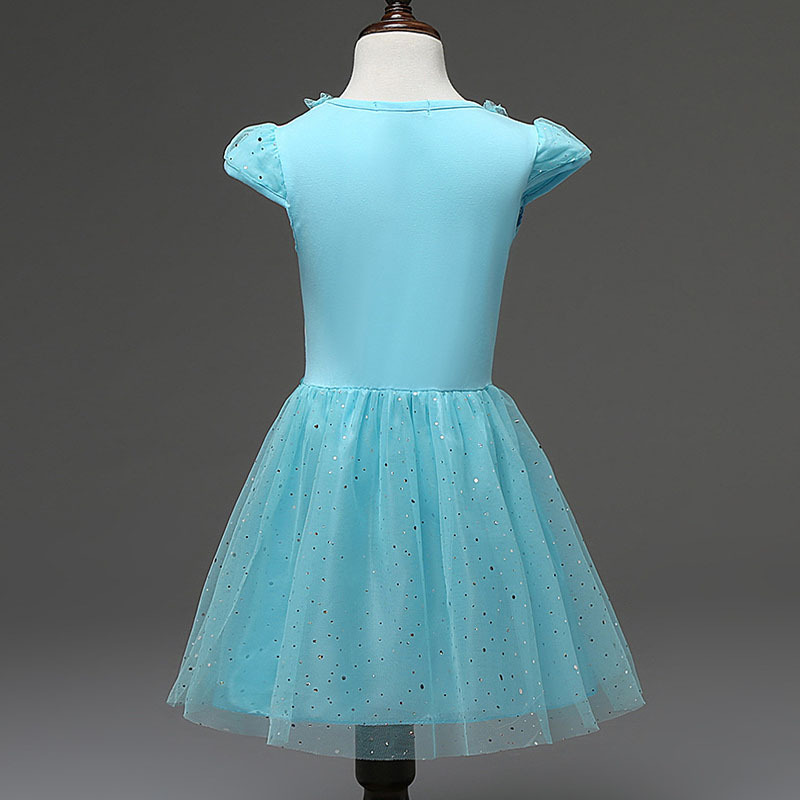 Novo 2-7 anos meninas vestido cosplay festa crianças vestidos princesa crianças roupas do bebê crianças da criança menina vestido casual atacado
