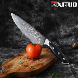XITUO Damascus VG10 Steel Japanese Chef Knife Cleaver Knife Slicing Knife Kitchen Knives Comfortable Grip Kitchen Cutter Tool