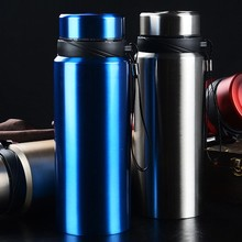 Get more info on the Large capacity 750/1000ML stainless steel cup mug outdoor travel men and women portable leak-proof sports bottle Portable outdoor vacuum insulation cup