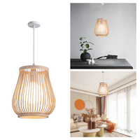 Natürliche Bambus Anhänger Licht Retro Hängen Decke Lampe Dekorative Lampenschirm Bambus Laterne Anhänger Lampe Hängen Dekorative