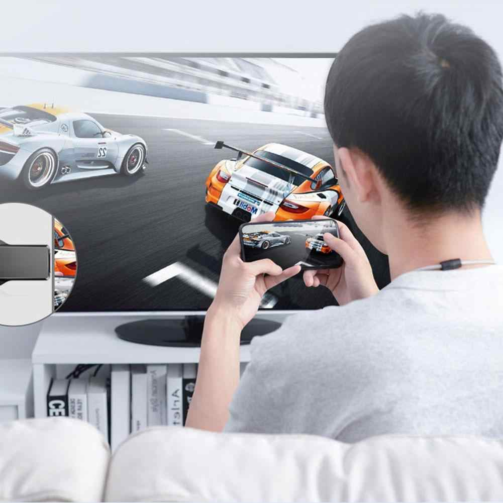 M4 Plus Wireless Display Adapter 5G 2.4G Nirkabel Layar Yang Sama TV Stick Adaptor Cermin Receiver Kompatibel