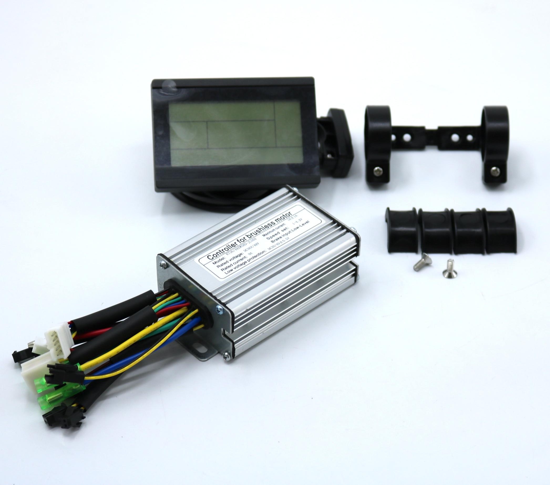 36V48V 350W 18Amax Brushless DC Motor KUNTENG LCD Controller Ebike Controller +KT-LCD3 Display One Set