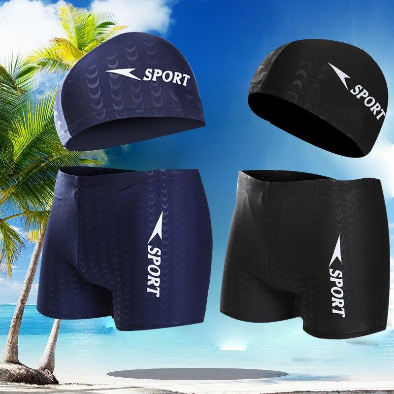 Hot Selling Adult Boxer Fitness Men's Swimming Trunks Swimwear Men Swimsuit Bubble Hot Spring Swimming Trunks