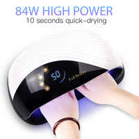 84W UV LED Nail Polish Lamp Fast Drying All Types Gel Nail Dryer With Fan Auto Sensor LCD Display Nail Art Manicure Tools MDone
