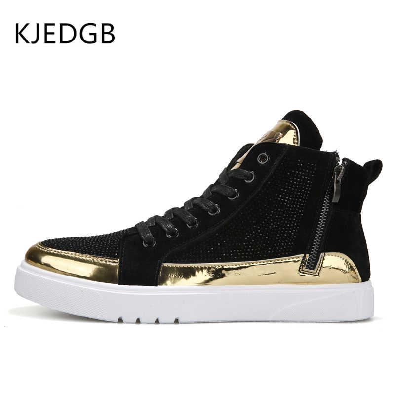 KJEDGB 2019 Lente/Herfst Heren Sneakers Ademend Comfortabele Platte mannen Schoenen PU Heren Outdoor Casual Lace-Up schoenen Designer