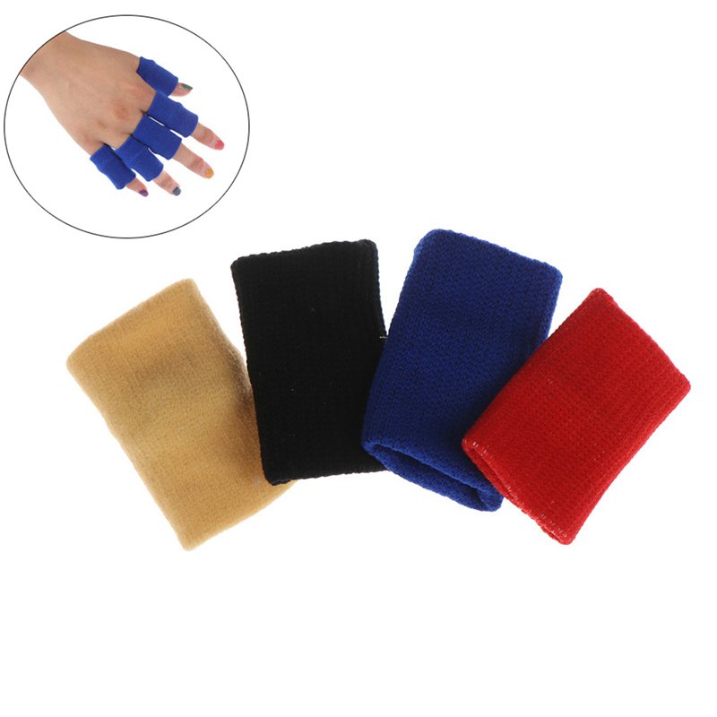 5pcs Sport Finger Splint Guard Bands Finger Protector Guard Support Stretchy Sports Aid Band Volleyball Basketball Finger Guard