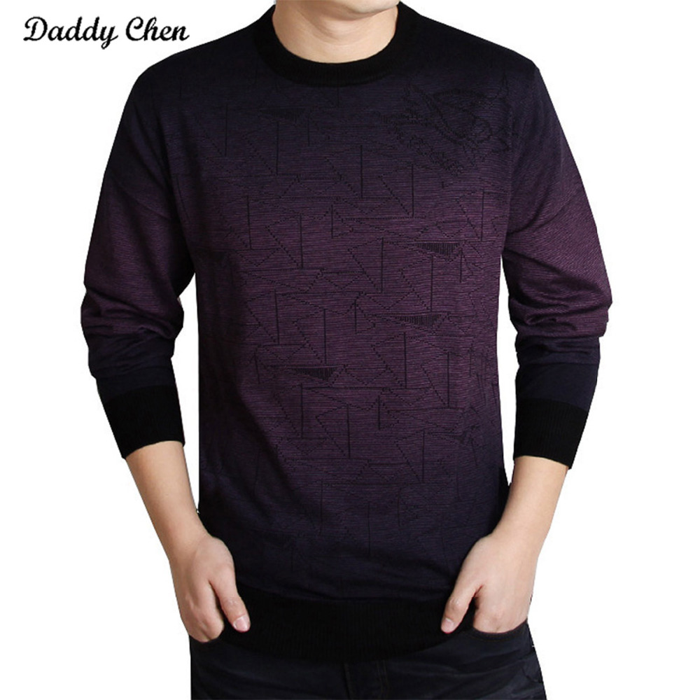 Fashion Knitted Sweater Men Brand Clothing For Mens Sweaters Print Hang Pye Casual Shirt Pullover Pull O-Neck Male Sweater