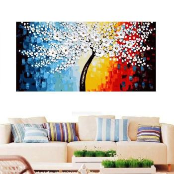 RUOPOTY 60x120cm Frame DIY Painting By Numbers Trees Landscape Wall Art Canvas Painting Large Size For Living Room Home Decor