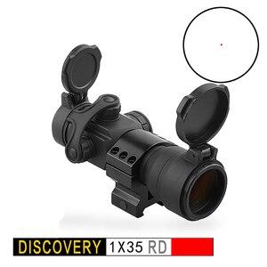 Mira de punto rojo 1X35 Reddot Airsoft discotion para Rifle, mira de visión PCP suave de aire con 20mm, riel Picatinny