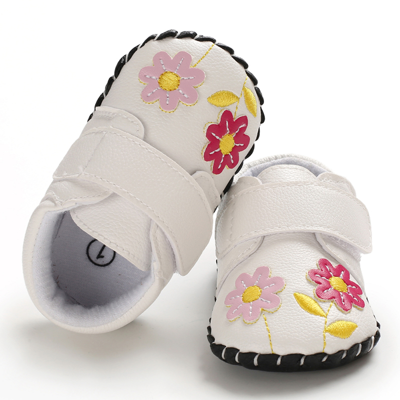 0-18M Toddler Infant Kids Baby Girls Cartoon Anti-slip Shoes Soft Sole Squeaky Sneakers