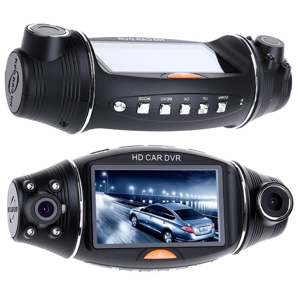 1080P HD Dual Lens 140° Dash Cam GPS Car DVR Video Recorder Camera G Sensor Night vision Dash Cam Rearview