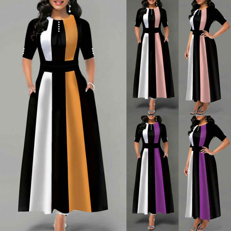 Vestido Vintage caliente 2019 mujeres elástico a rayas paquete ajustado vendaje vestido niñas Club fiesta vestido largo Maxi cálido vestido de invierno