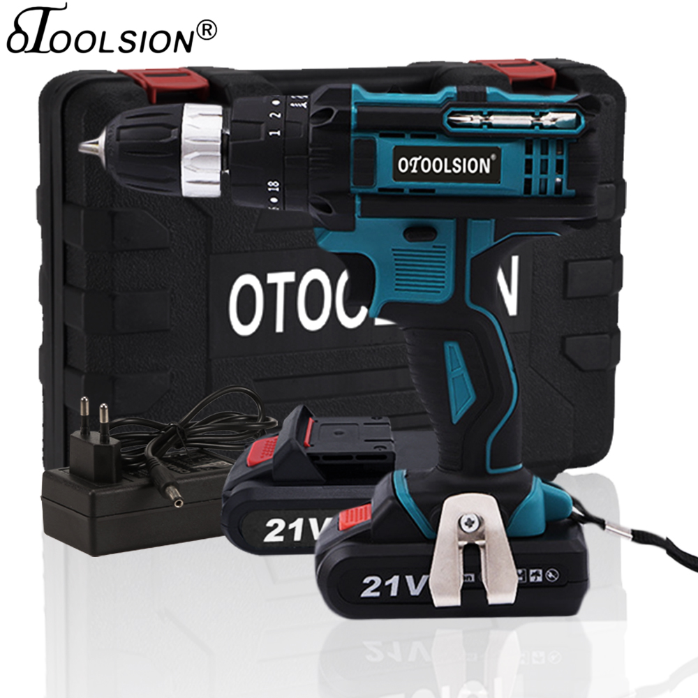 New 21V Impact Mini Drill Hammer Drill Electric Power Tool Cordless Impact Screwdriver Electric Hammer Drill For Renovation Team01