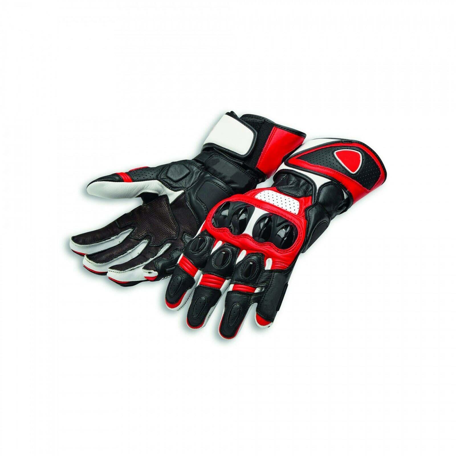 NEW Genuine Leather Speed Evo C1 For Ducati Motorcycle Gloves Racing Gloves Driving Motorbike Gloves Original Cowhide Gloves