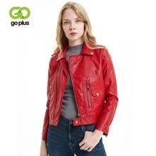 GOPLUS Womens Asymmetric Zip Leather Jackets Plus Size Red Black Faux Jacket Coats Veste En Cuir Femme Kurtka Damska