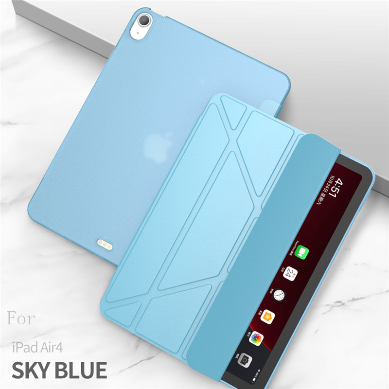 blue Blue Case For iPad Air 4 Case 2020 ipad Air 10 9 inch Funda Smart Stand Cover