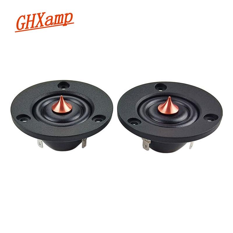 GHXAMP Speaker Dome Tweeter 2inch Neodymium 4ohm 2PCS Diaphragm 20W Unit-Silk Car DIY