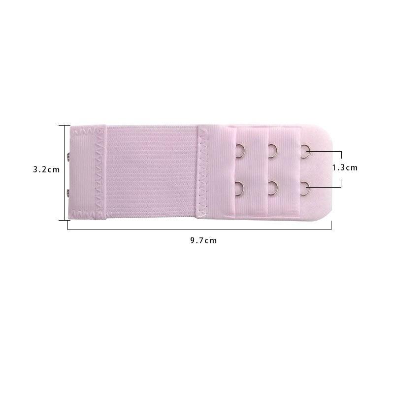 1 шт., удлинитель для бюстгальтера, удлинение пряжки, 3 ряда, 2 крючка, застежка, ремни, женский ремень для бюстгальтера, удлинитель, инструмент для шитья, аксессуары для интима - Цвет: Розовый