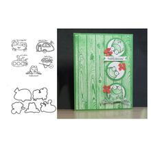 JCarter Metal Cutting Dies and Clear Stamps for Scrapbooking Craft Frog Crab Stencil Card Making Album Sheet Decor Die Cut 2019