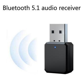 Bluetooth 5 1 odbiornik Audio nadajnik Mini 3 5mm Jack AUX USB Stereo muzyka bezprzewodowy Adapter do TV samochodu PC TV zestawy tanie i dobre opinie centechia CN (pochodzenie) Brak Podwójne KN318 BT5 1 A2DP AVRCP Up to 10m 33ft blue LED flashing The blue light keeps on