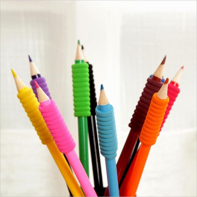 10p 6 cercles éponge stylo manches Topper peinture perceuse pour mosaïque strass Point stylo crique écriture correcteur crayon poignée aide