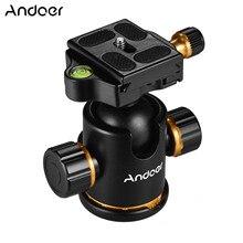 Andoer panoramiczny statyw głowica kulowa ze stopu Aluminium Ballhead adapter do montażu 360 stopni obrotowy + płytka quick release głowica statywu do aparatów fotograficznych