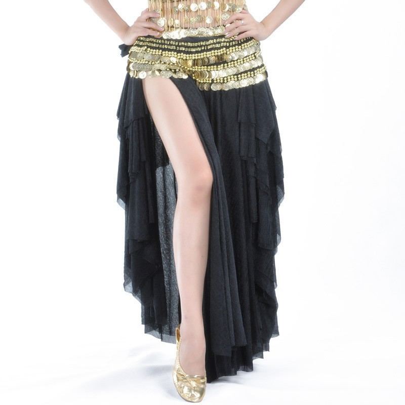 Dancing Girl Bellydance Costume Indian Jewelry Belly Dance Gypsy Skirt Black Danse Orientale Sari India Dresses For Women Sequin