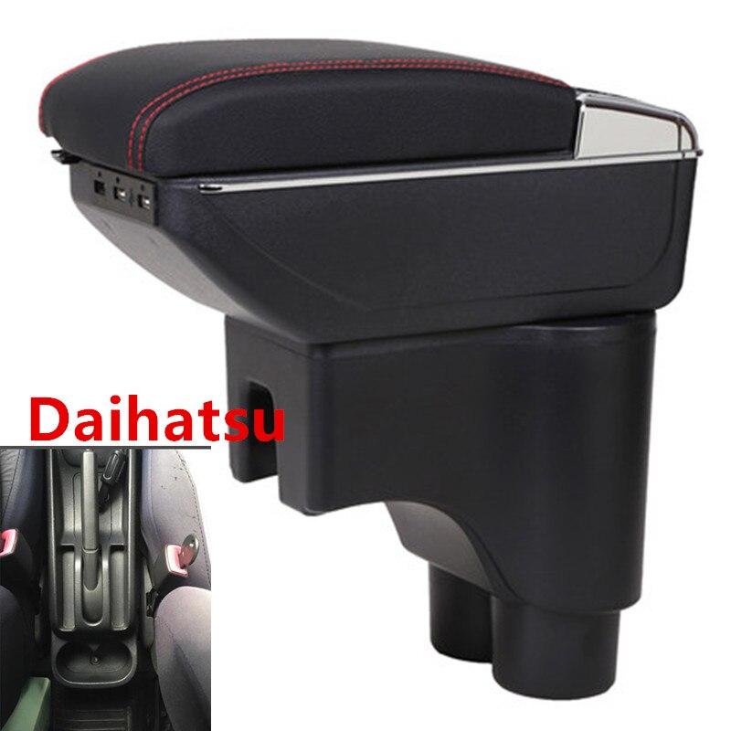 Для Daihatsu Terios 2 подлокотник коробка зарядка через usb повысить двойной слой центральный магазин содержание Подстаканник Пепельница аксессуар...