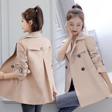 2020 Women Casual Trench Autumn Windbreaker Coats Casual Loose Safari Clothes Fa