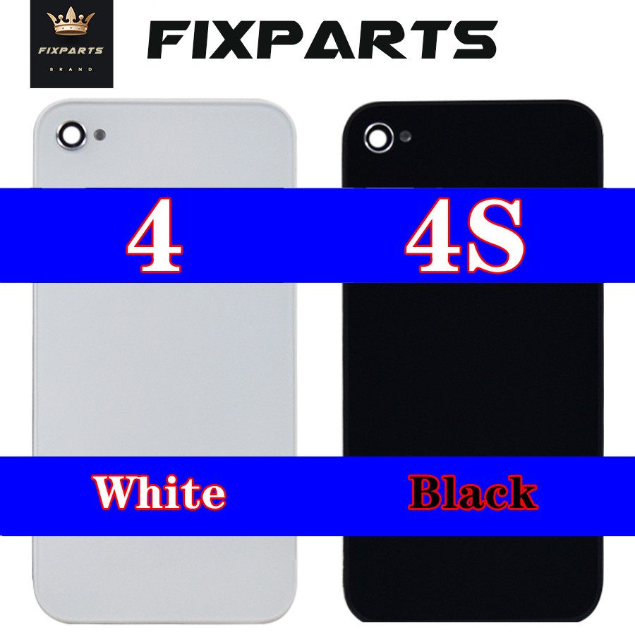 Original Back Cover For IPhone 4 S 4G 4S Battery Back Cover Battery Door Glass Housing Replacement Parts For Iphone 4 Back Cover
