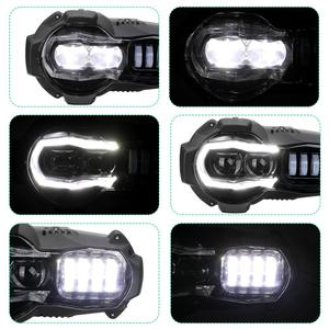 Image 5 - Yeni gelen! Motosiklet LED farlar projektör BMW R1200GS 2004 2012 R 1200GS ADV macera 2005 2013 Moto ışıkları montaj