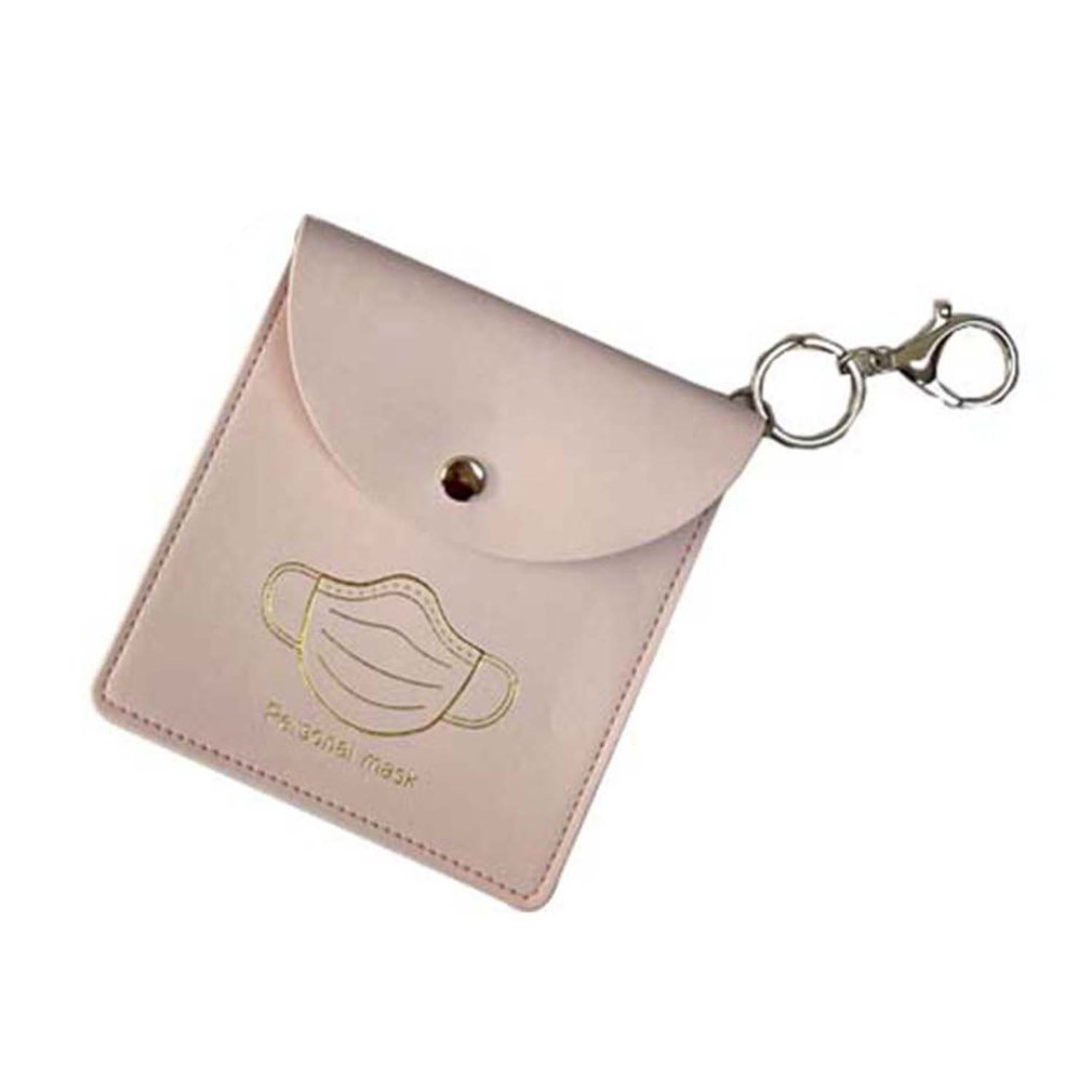 Portable PU Leather Mask Storage Case Ecyclable Mask Case Holder Disposable Face Cover Organizer Storage Case Bag