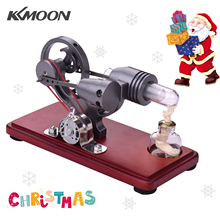 Engine-Motor-Generator Electricity with Colorful Led-Light Creative Gift Hot-Air-Stirling