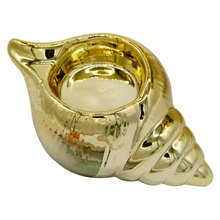 Electroplated Golden Conch Ceramic Candle Holder Cup European Style (Gold)
