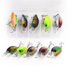 5pcs/lot Fishing Lures Kit Plastic Crank Bait 4.2g/5cm Wobblers Crankbait Tackle Bass Bait Spinners for Fishing