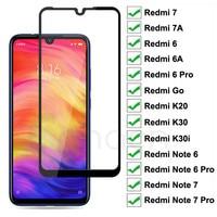 9D tam koruyucu cam Xiaomi Redmi için 7 7A 6A 6 K30 Pro gitmek K20 K30i temperli ekran koruyucu Redmi not 6 7 Pro cam filmi