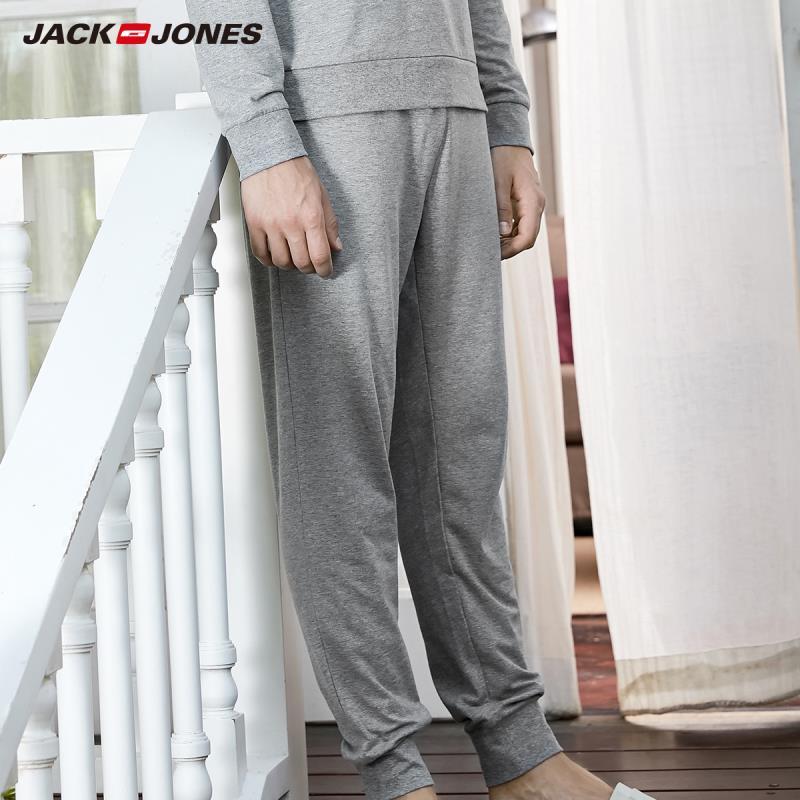 JackJones Men's 94% Cotton Homewear Drawstring Pants Slim Fit Fashion Trousers Jack Jones Menswear Brand Sports 2191HC501