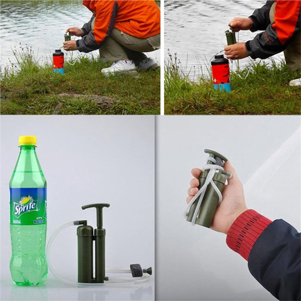 Hot Selling Outdoor Water Purifier Camping Hiking Emergency Life Survival Portable Purifier Water Filter 2019