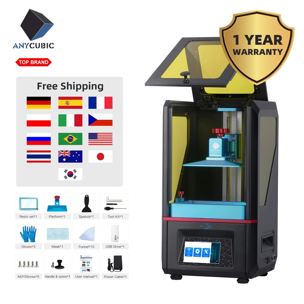ANYCUBIC Фотон 3d принтер сенсорный ЖК экран UV LED конечная скорость ломтика плюс размер Настольный SLA 3d принтер комплект УФ Смола 3D Drucker3d printerdesktop 3d printer3d desktop printer  АлиЭкспресс