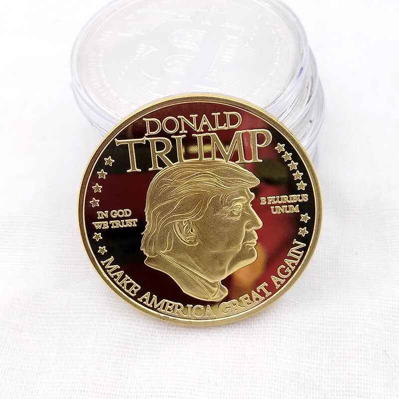 Donald J. Trump 2020 Keep America Great Commander In CHIEF GOLD Challenge เหรียญที่ระลึกอเมริกา 45th President Novelty Coin