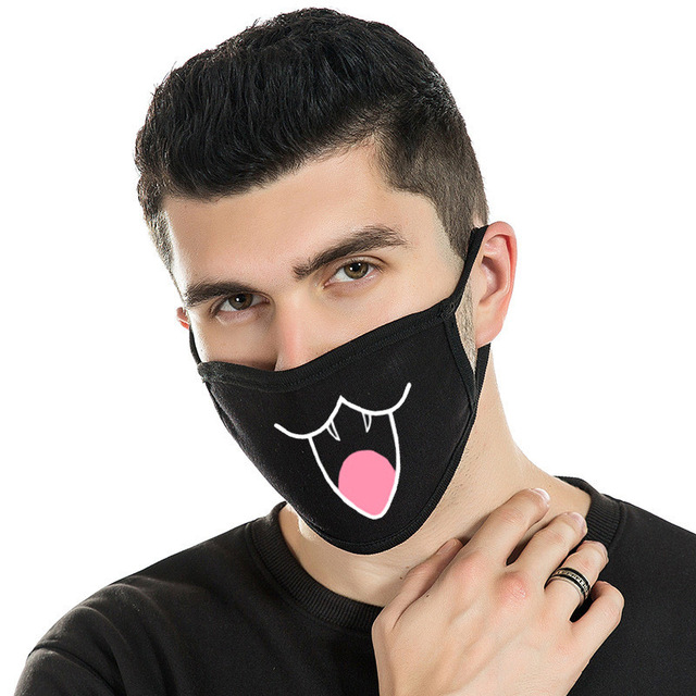 Fashion FashiEmoticon Health Anti-Dust Mouth Face Mask Respirator Unisex Fashion Kpop Mouth-Muffle Face Mask For Birthday Party