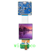 3.81 inch 1080x1200 AMOLED dural display screenn 3D VR head mounted display with HDMI to MIPI board for HMD TF38101A