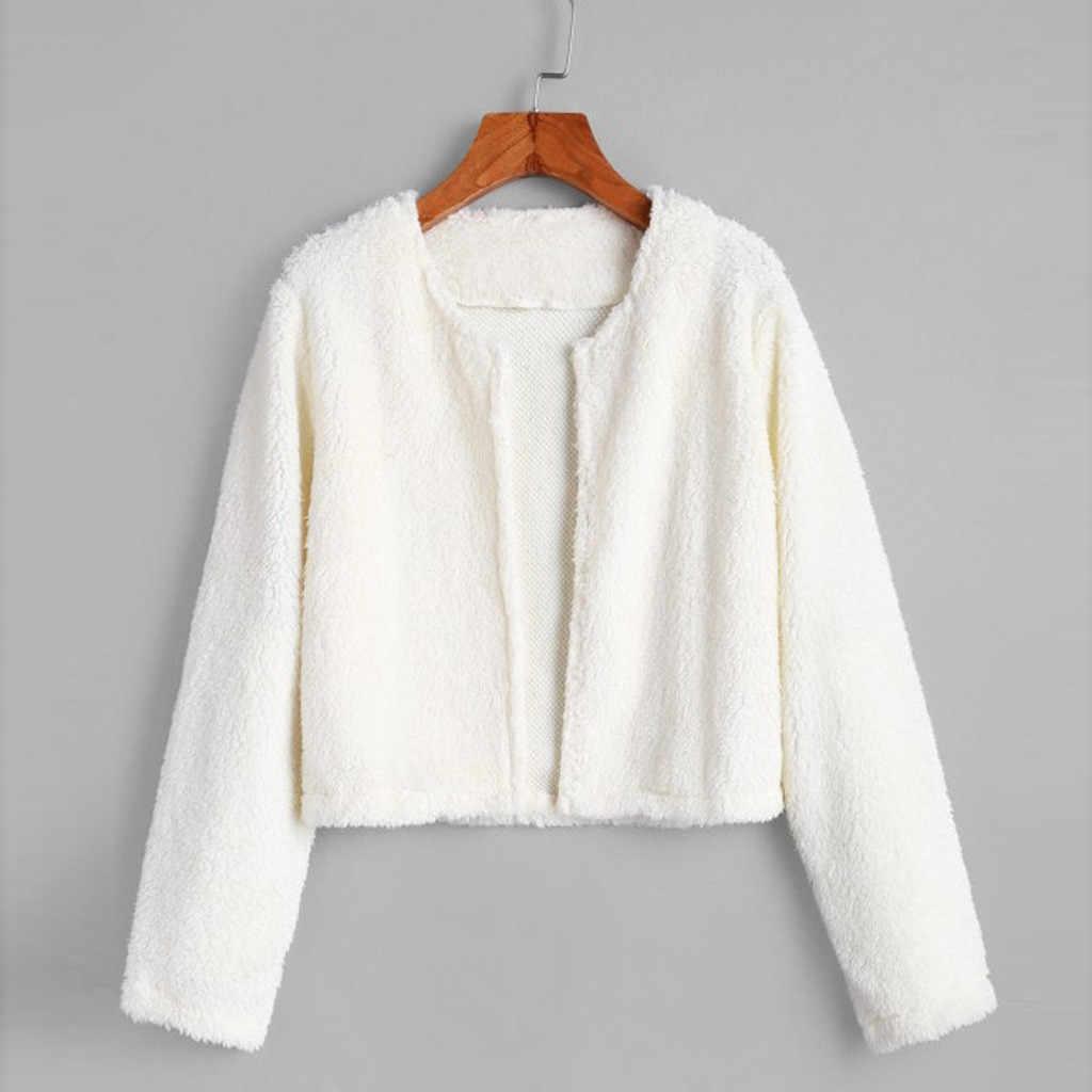 フリース女性パーカージャケット女性の冬の毛皮のコート長袖暖かいカジュアルスウェットシャツソリッドカラートップカジュアル jaqueta mujer